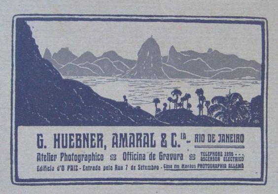 COLECIONISMO Foto de 1915, do Atelier Fotográfico G. Huebner, Amaral & Cia