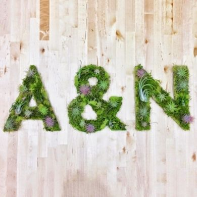 Wedding Decor: Succulent Letters //  via Well Groomed- Lover.ly