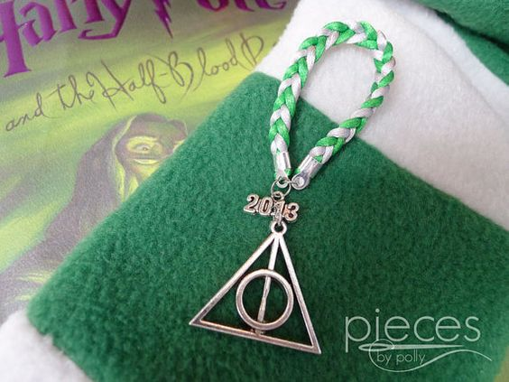 2013 Deathly Hallows Christmas Ornament in Slytherin Colors - Perfect for Harry Potter Fans