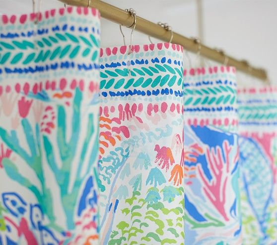 Lilly Pulitzer Mermaid Cove Shower, Pottery Barn Lilly Pulitzer Curtains