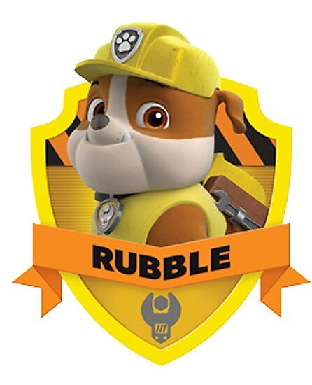 Rubble Photographic Print By Davidmm99 In 2021 Paw Patrol Decorations Paw Patrol Characters Rubble Paw Patrol