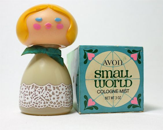 Avon cologne bottle, super sweet and groovy I had the purple one with the blonde hair!