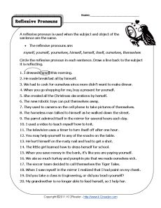 Printables Pronoun Worksheets High School reflexive pronouns pronoun worksheets and worksheet