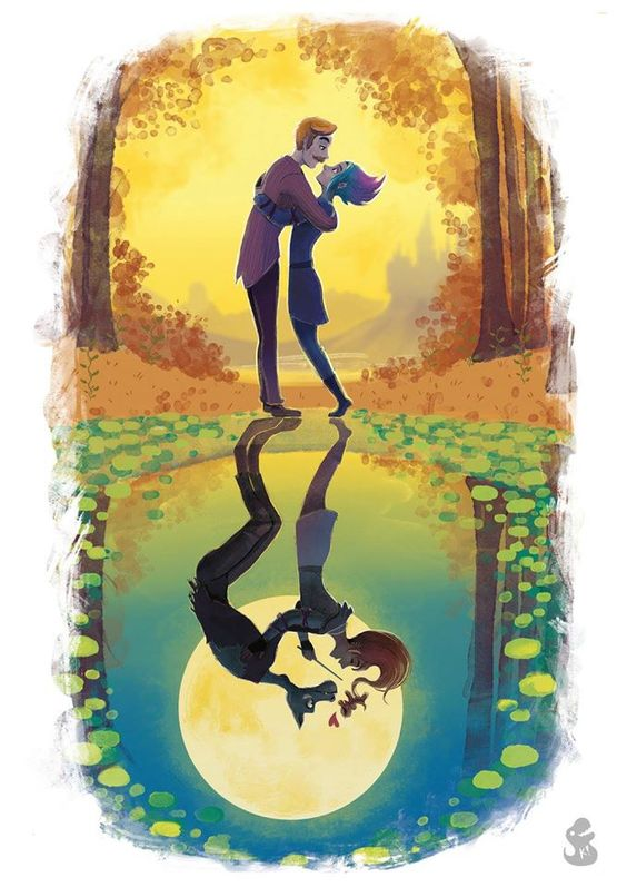 Remus & Tonks ♥ http://tropicalraccoon.deviantart.com/art/Lupin-and-Tonks-Harry-Potter-Fanart-622258569