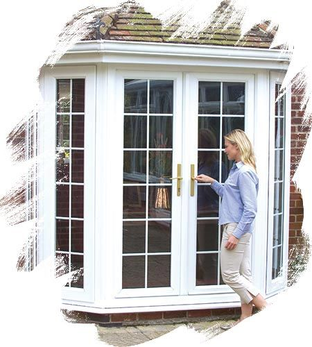 Replace bay window with french doors google search for French doors without windows