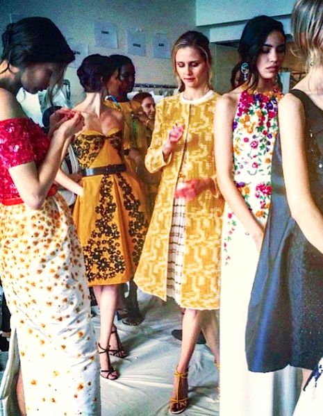 Oscar de la Renta Resort 2016 backstage: