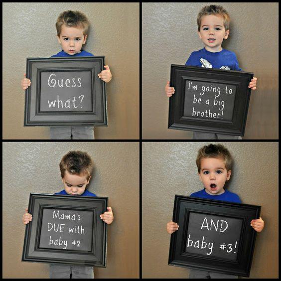 Big Brother Twin Pregnancy Announcement Idea – Big Brother Birth Announcement Ideas