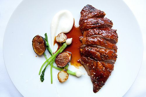 Lavender honey roast duck for two at Eleven Madison Park.     I ate this during my birthday lunch in November 2011.