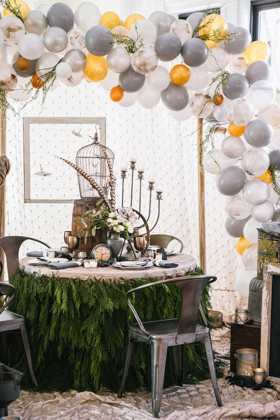 15 ways to decorate a table with balloons decorating dinner by design dpnak weddings snags third place balloon arch diyballoon junglespirit Images