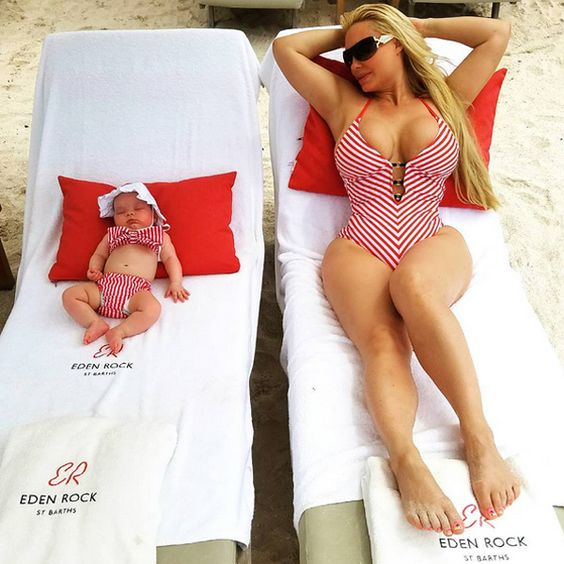 Coco Austin and Baby Chanel Show Off Matching Swimsuits (Again!) During Beach Vacation