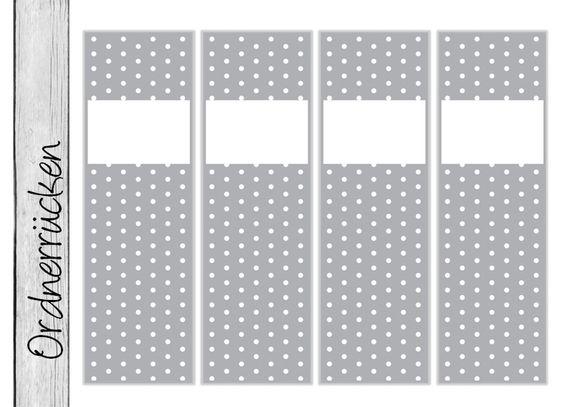 +DIY+Ordnerrücken+•+DOTS+grau+•+(Ob13)+Bogen+von+EINER+MIT+PAPIER+auf+DaWanda.com