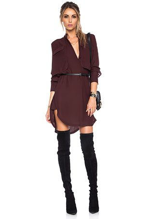 Halston Heritage Belted Shirt Dress | Revolve Clothing: