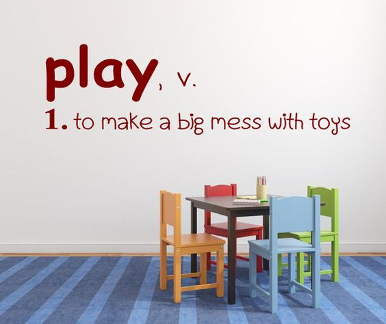 Play Definition - Playroom Vinyl Lettering Wall Words Decal Kids Room Decor Wall Decal on Etsy, $25.00