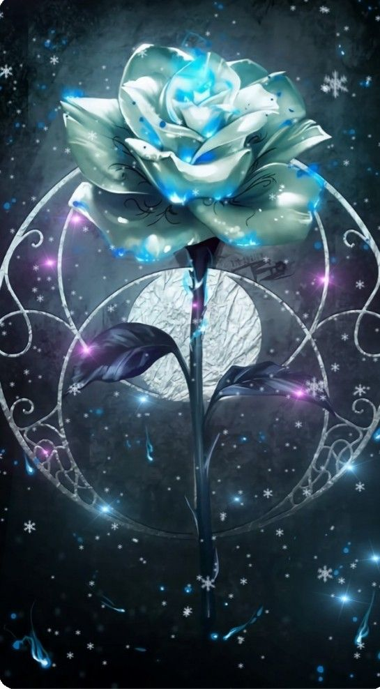 Blue Roses With Jewels Flower Phone Wallpaper Gothic Wallpaper Beautiful Wallpapers