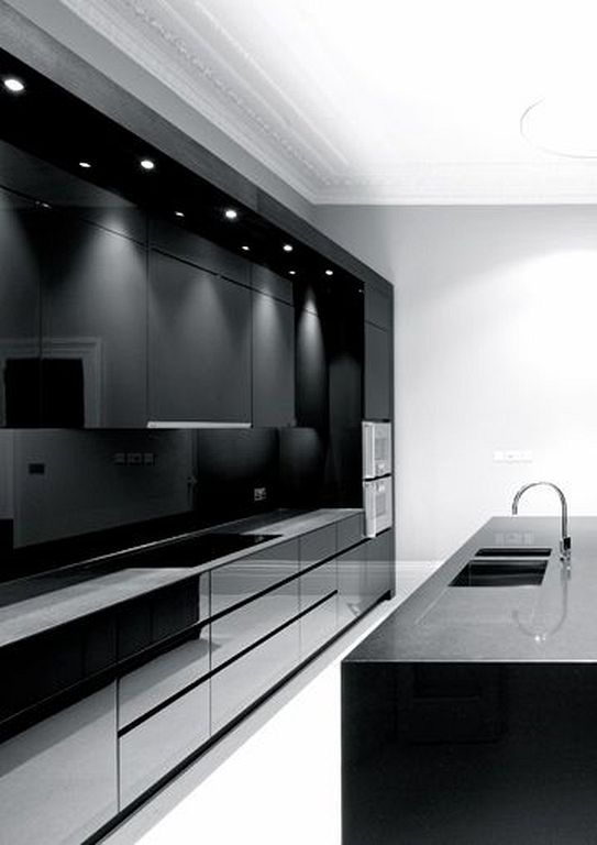 24 Stylish Home Interior Ideas To Decorate Black Kitchen Ideas Modern Kitchen Design Modern Kitchen Remodel Luxury Kitchens