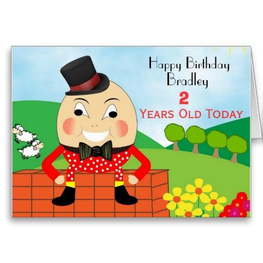 Humpty Dumpty Cute Kids Birthday Cards Such a cute birthday card – Personalized Kids Birthday Cards