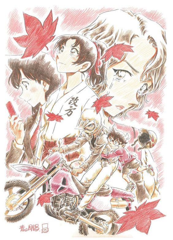 から紅の恋歌イラスト版のコナンの映画の壁紙