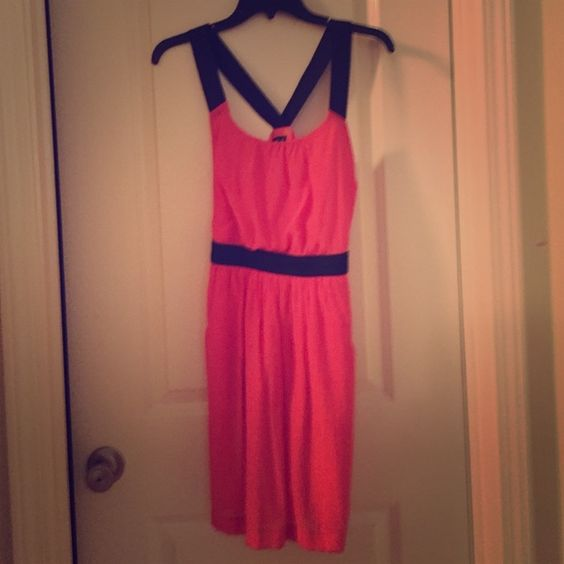 Great dress Coral orange dress has pockets. Worn twice. Great condition. Dresses
