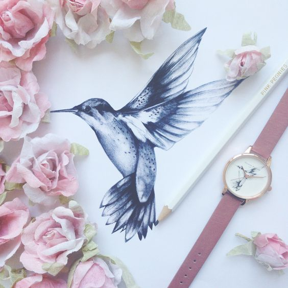 Romantic in rose - we adore our new Hummingbird watch in rose and rose gold <3 #oliviaburton