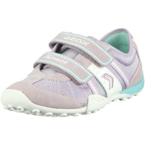 Geox Snake 48 Hook and Loop Sneaker (Toddler/Little Kid/Big Kid),Lilac/White,31 EU (13 M US Little Kid) $70.00