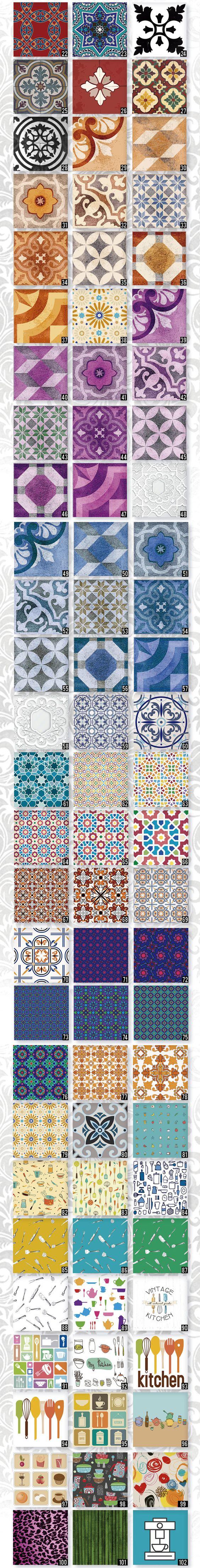 Vinilos decorativos para azulejos cocina ba o pack por - Vinilos para azulejos ...
