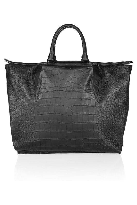 ALEXANDER WANG  Croc-effect leather tote