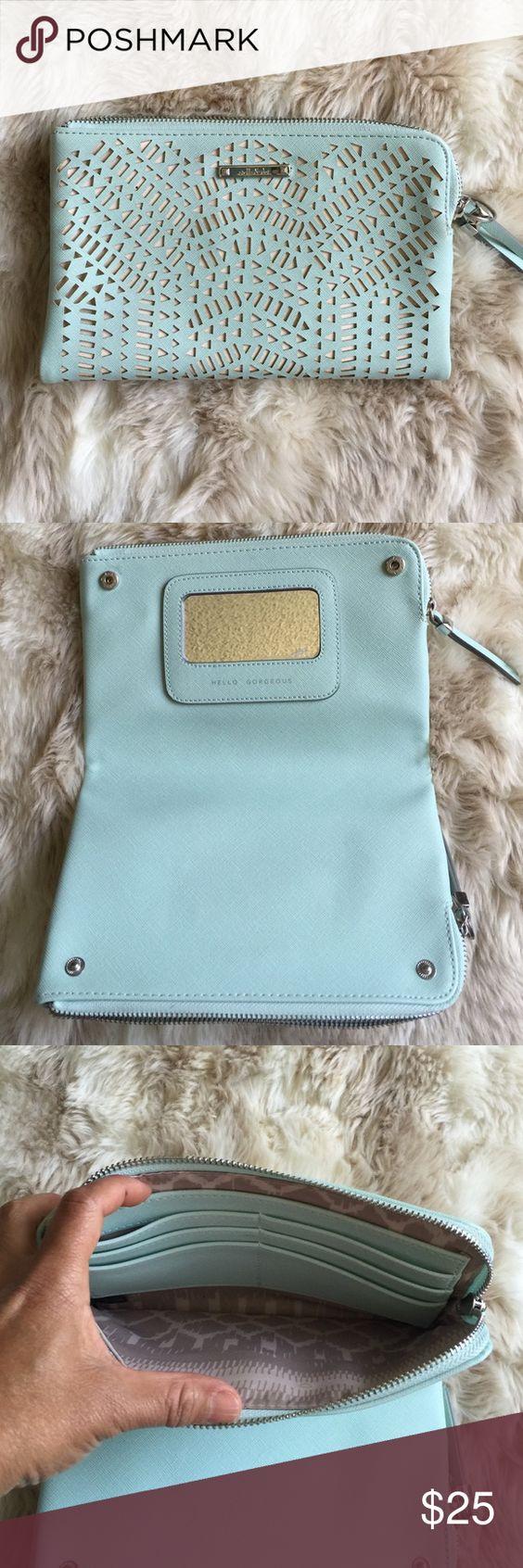 EUC Stella & Dot double clutch Beautiful light blue color clutch.  Used a few times. Stella & Dot Bags Clutches & Wristlets