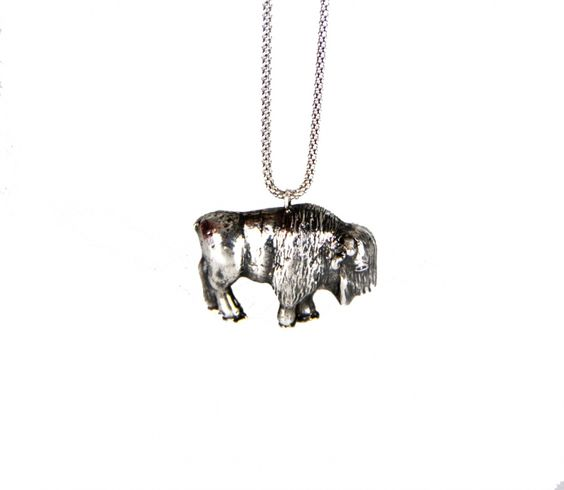 The Bison Pendant by Glenda López Jewelry Design on Young Republic - http://youngrepublic.tv/jewelry/necklaces/thebisonpendant.html