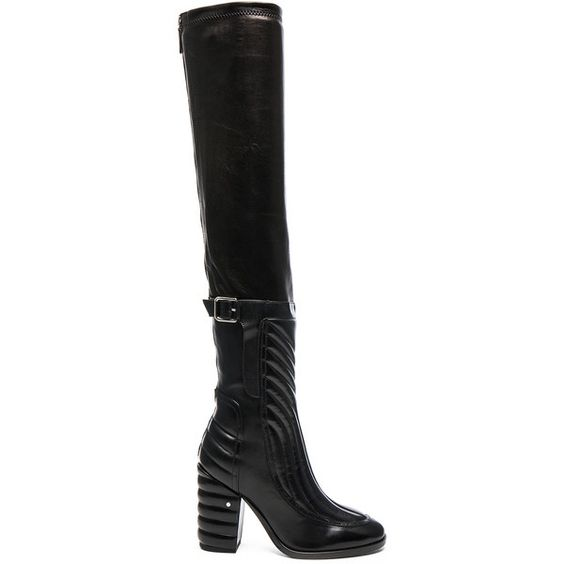 Laurence Dacade Bettina Leather Boots (5,455 CNY) ❤ liked on Polyvore featuring shoes, boots, ankle boots, bootie boots, high heel ankle boots, short high heel boots, leather boots and back zipper boots