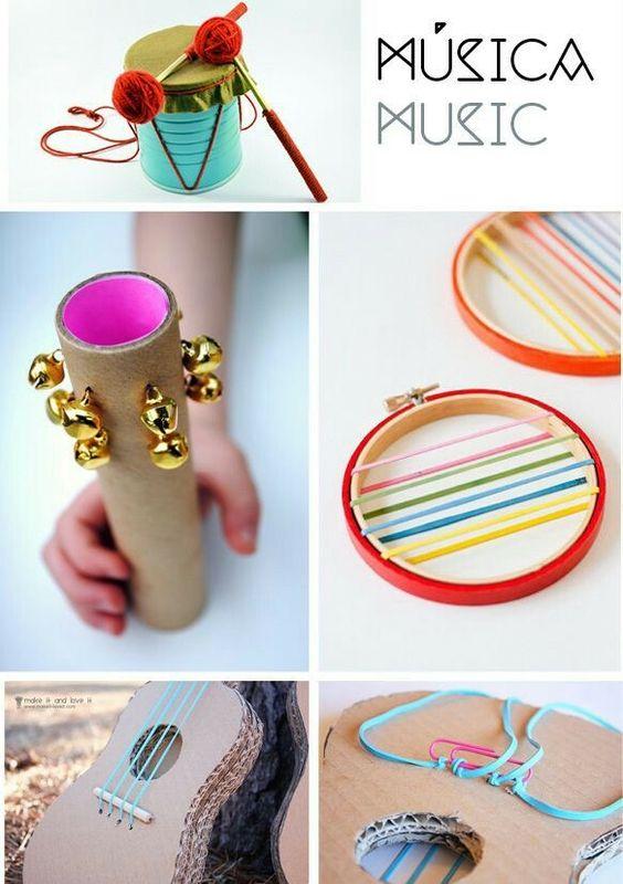 Speelgoed dat je kan maken met karton dozen - muziek instrumenten