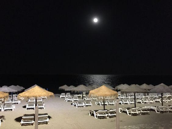 Playa Málaga con luna llena #beach #night
