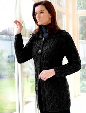Collar Cardigan with Banded Waist