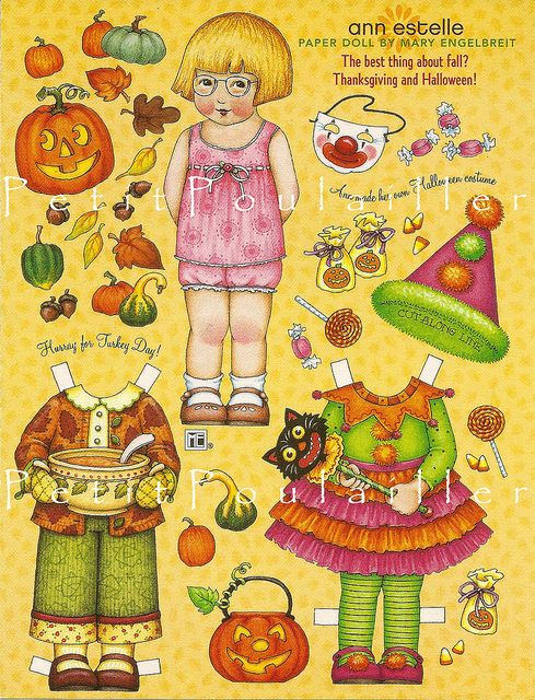 Mary Engelbreit's Home Companion Paper Dolls, Ann Estelle Hallowe'en by Le Petit Poulailler, via Flickr