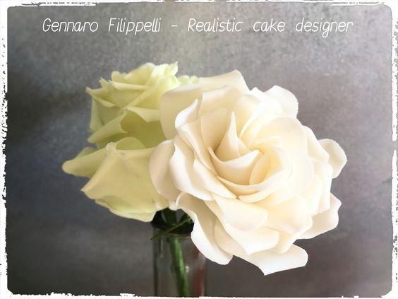 Fiori in gum paste. Gardenia