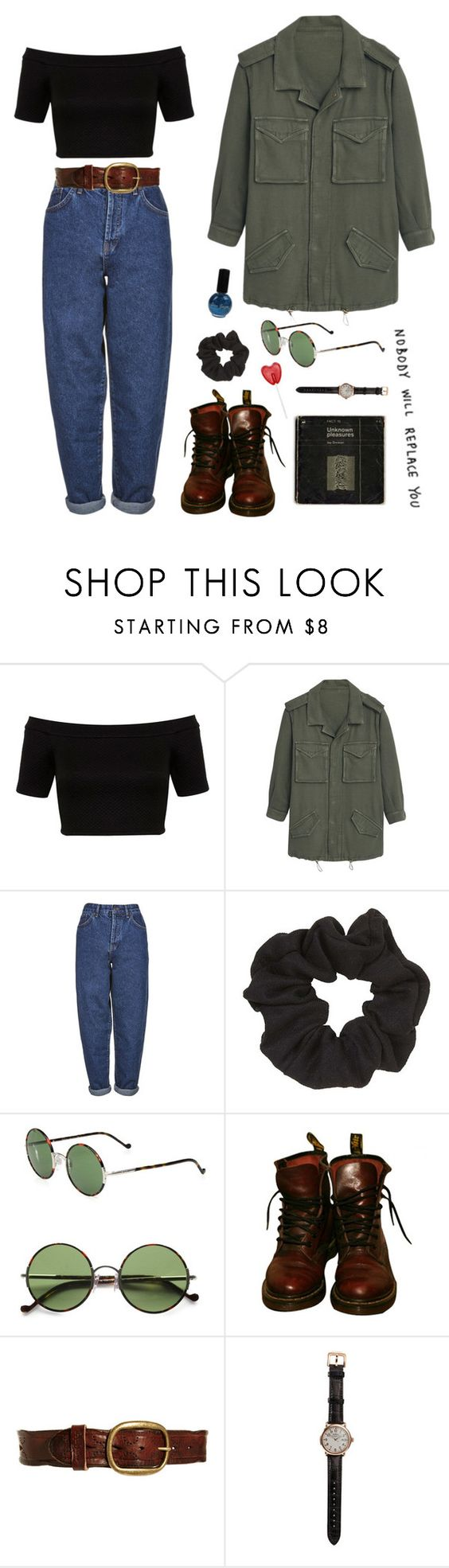"""Untitled #53"" by marie-w-holm ❤ liked on Polyvore featuring Miss Selfridge, MANGO, Boutique, Topshop, Ralph Lauren, Dr. Martens, Pepe Jeans London and Shinola"