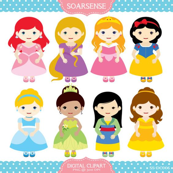 Clip Art Disney Princess Clipart disney princess clipart by soarsense on etsy 5 00 00