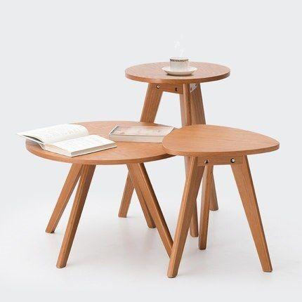 Kaffeetischchen Couchtisch Beistelltisch Solide Holz Kaffee Tisch Runde Kleine Tisch Einfache S Wohnzimmertische Couchtisch Massivholz Runder Kaffeetisch