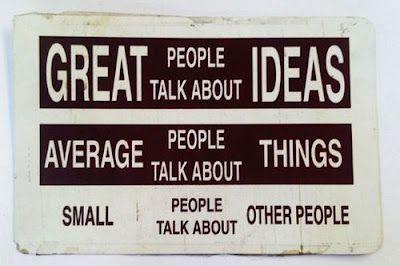 Ideas, cosas, personas...