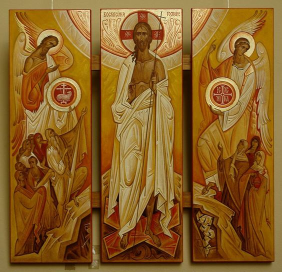 Resurrection - contemporary icon: