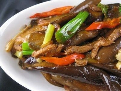 My Asian Kitchen: Sauteed Chinese Eggplants with Shredder Pork in ...