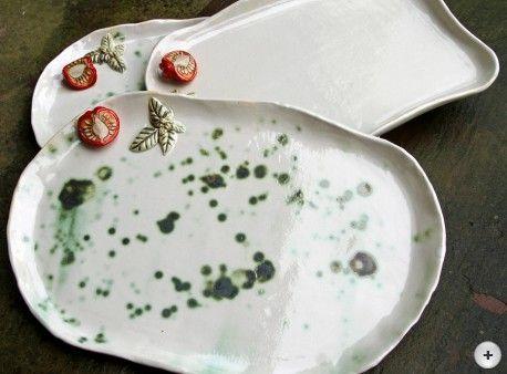 hauptsache keramik: Tomatenplatten