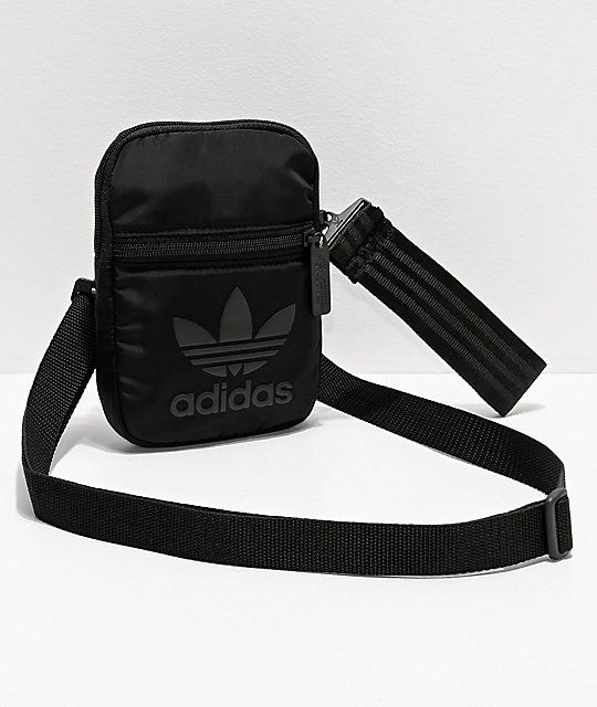 Policía Fatal nacimiento  adidas Festival Black Crossbody Bag | Zumiez | Crossbody bag, Black cross  body bag, Bags