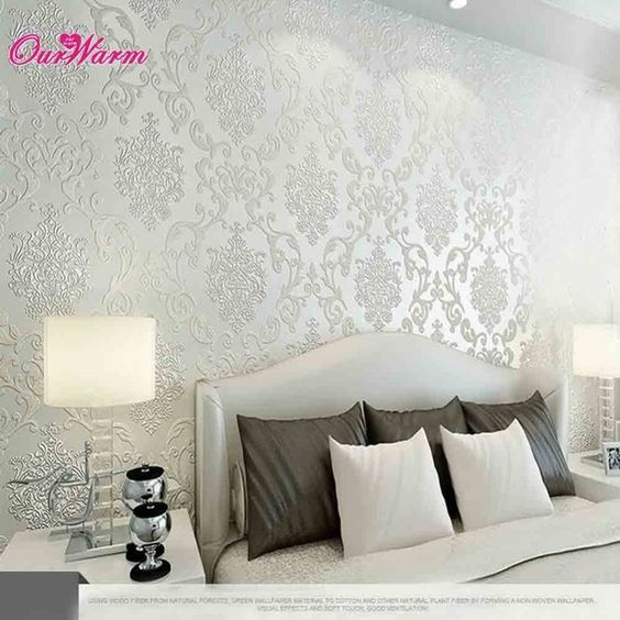 Luxury Embossed Textured Non-woven Wallpaper Rolls Decal Wall Paper for Living Room Bedroom Decoration