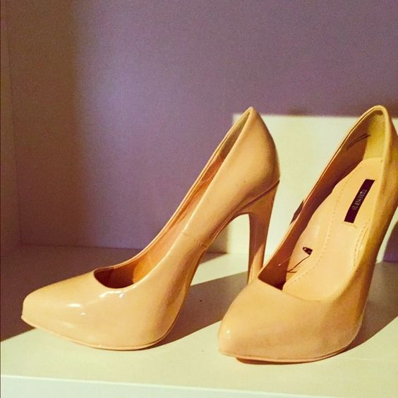 Forever 21 paten leather nude heel size 6 | D, Forever 21 and ...