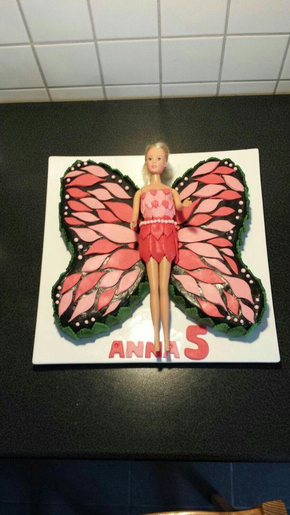 Fondant Torte Barbie Schmetterling