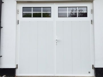Glazed, Side Hinged Garage Doors London- Cerberus Doors UK