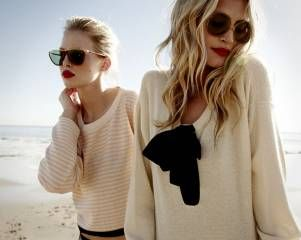 cream knits, summer afternoons and dark sunglasses