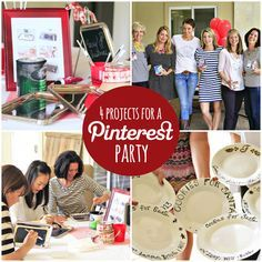 Four Projects For a Pinterest Party - Lil Blue Boo