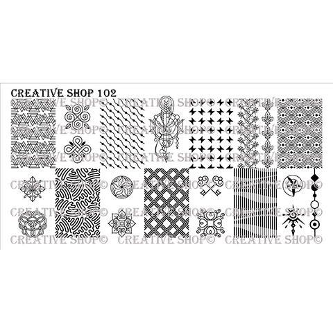 Creative Shop- Stamping Plate- 102