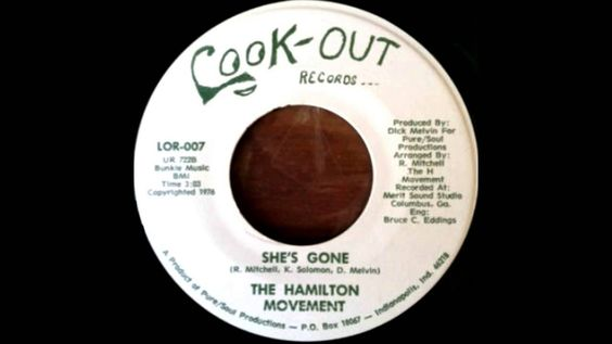 THE HAMILTON MOVEMENT - She's Gone - 1976